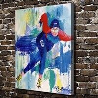 A1959 LeRoy Neiman Trừu Tượng Ski Skate Vận Động Viên Con Số, HD Canvas In Home decoration Living Room Tường hình ảnh Nghệ Thuật sơn