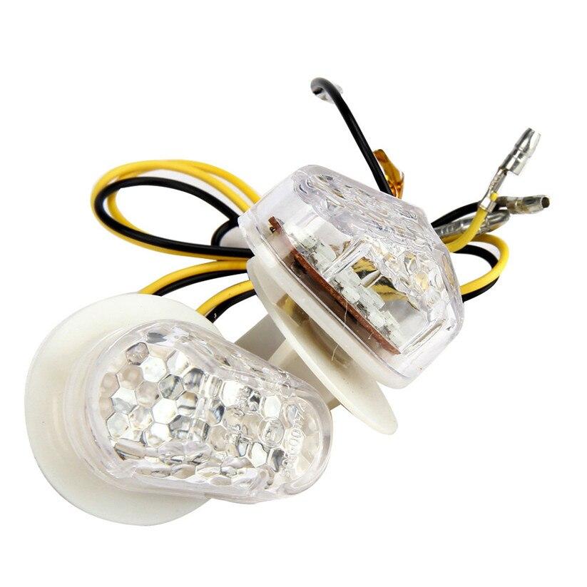 Car-styling KAKUDER Motorcycle Bike LED Turn Signals Amber Indicator Light Flasher DC12V td1227 dropship