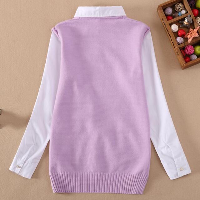 2018 Spring Fall Kids School Girls Blouse Long Sleeve Knitting Cotton Shirt for Girls Tops Blouses Teen Children Clothes JW3668