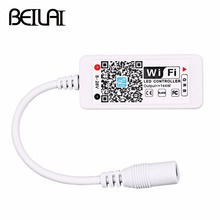 BEILAI DC 12V Mini WIFI LED RGB Controller With DC Female By Smartphone Control For SMD