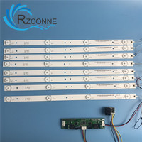 8pcs 395mm LED Backlight Lamps Strip Kit Board W Optical Lens Fliter For 42inch 43inch 46inch
