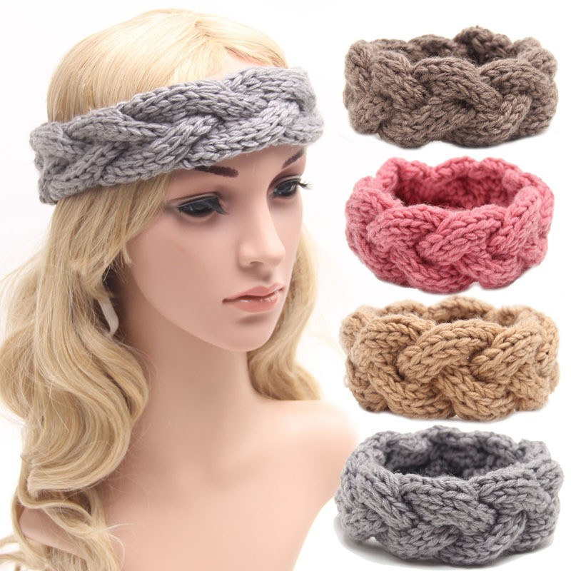Knitted Headband Knit Hair Band Turban Headband Knitted Ear Warmer ...