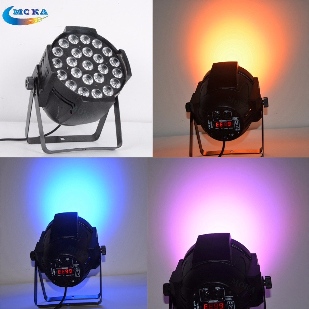 LED 24x18W RGBWA UV 6 in 1 dmx led par light stand Master Slave LED Flat par light DJ Equipment Controller