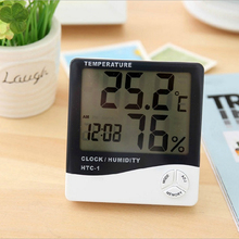 Large Screen Household  High Precision Indoor Electronic Count Display Thermometer and Humidimeter