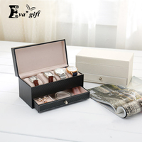 High Grade Arbon Fiber Leather Jewelry Storage Box Container Boxes Watch Casket With Drawer Organizer Watch