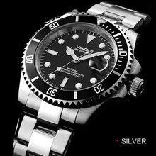 200 м дайвинг водостойкой часы, Циферблат Диаметром: 40 мм, Ширина Полосы: 20 mmMen's classic бизнес календарь, световой кварцевые часы