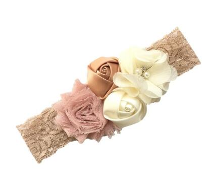 1pcs New Lace Baby Headband Chic Lace Mix 4 Flower Princess Girls Headband Hair Bow Headband Baby Girl Children Hair Accessories new high quality baby hair accessories children s cute lace bowknot hair clips baby girl hairpin child hair bow ribbon headdress
