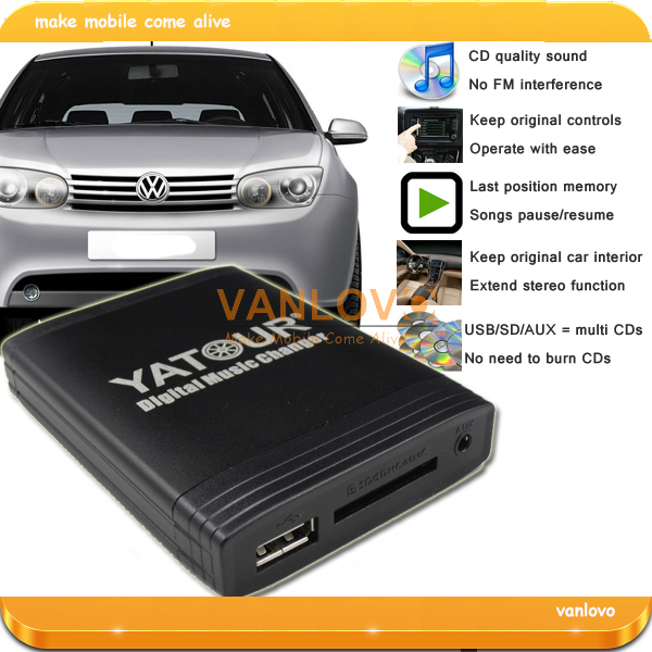 ФОТО YATOUR Digital Music Changer USB SD AUX MP3 Adapter for VW Radio Alpha 5 Beta 5 Gamma 5 Rhapsody Beetle Gamma CD