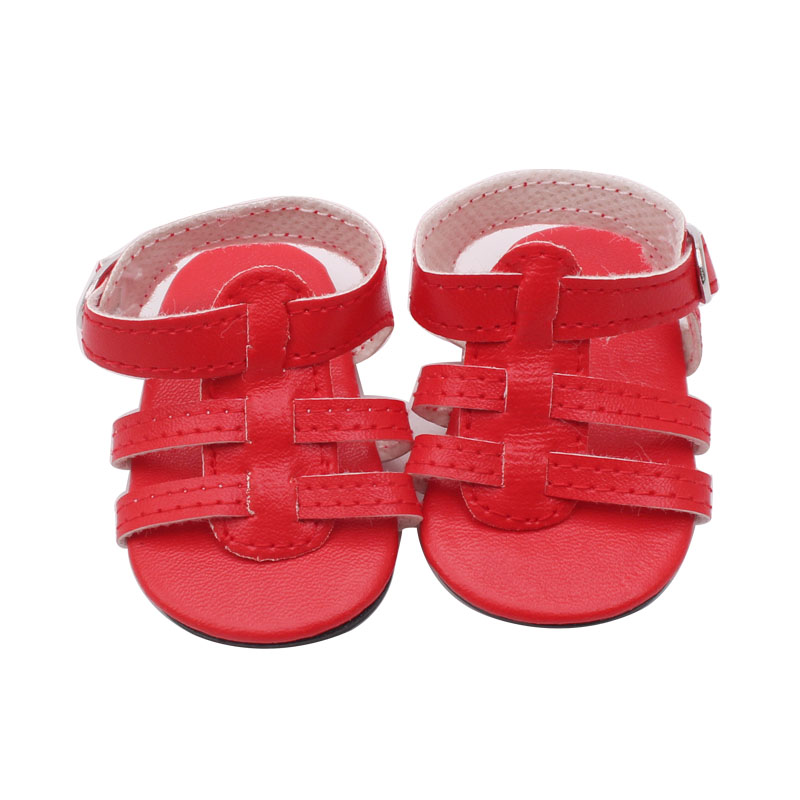 18 American girl dolls of the shoes Leather shoes sandals high heels children Christmas gift free