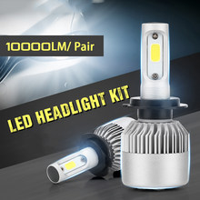 CROSSLEOPARD S2 New LED Car Headlight with 3 Sides Light 10000LM Cree Lamp H1 H3 H4 H7 H11 H13 H27 9004 9005 9006 HB4 9007 HB5(China)