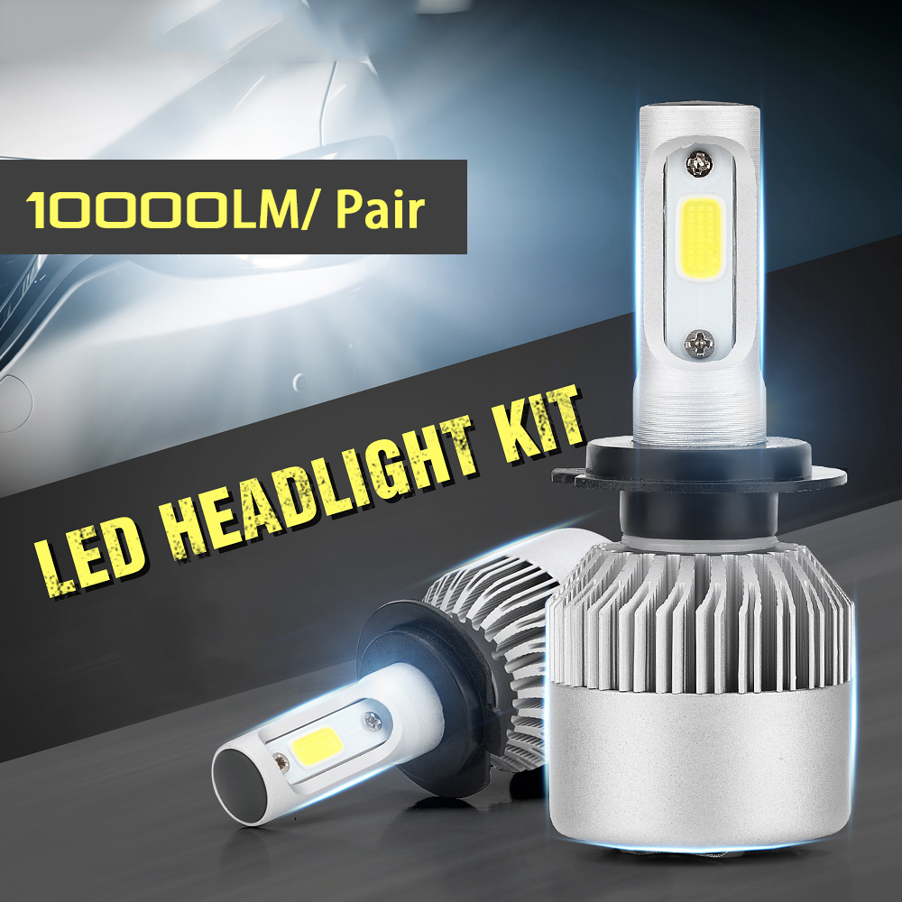 CROSSLEOPARD S2 New LED Car Headlight with 3 Sides Light 10000LM Cree Lamp H1 H3 H4 H7 H11 H13 H27 9004 9005 9006 HB4 9007 HB5