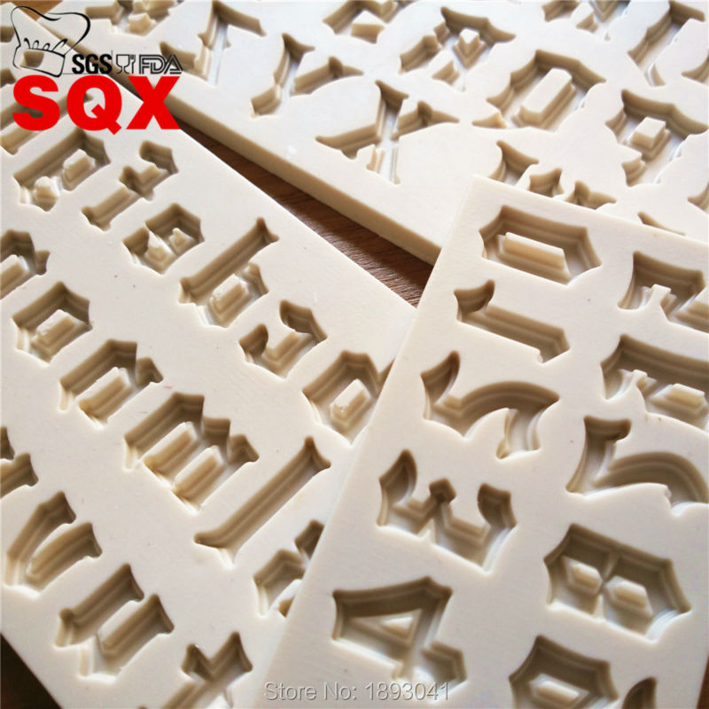 Nueva llegada de Halloween estilo letras de molde de silicona, herramientas de d