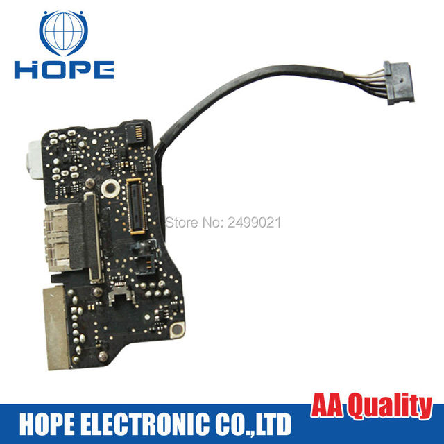 Original For Magsafe DC Jack For Apple Macbook Air 13'' A1466 USB Audio Power Board 2012 820-3214-A