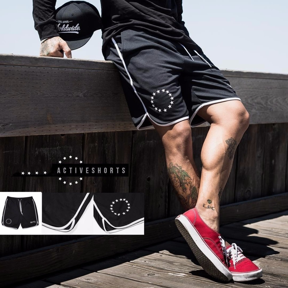 2019 Summer Mens Brand Jogger Sporting Shorts Slimming Men Black Bodybuilding Short Pants Male Fitness Gyms Shorts For Workout