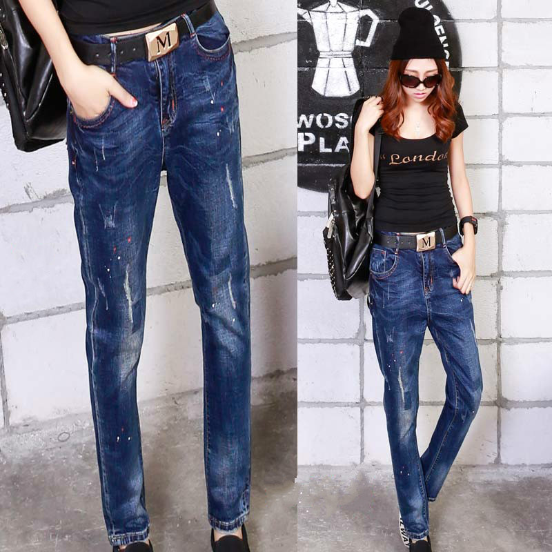 2016 harem pants pencil trousers jeans woman pantalon femme vaqueros mujer