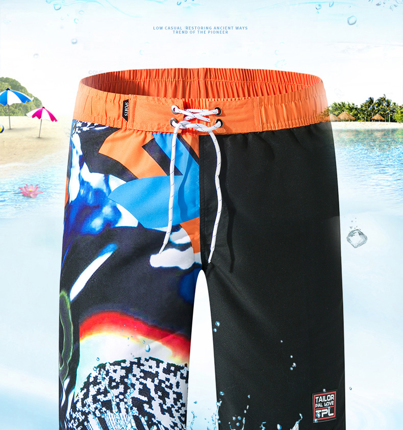 praia calções de praia de secagem rápida