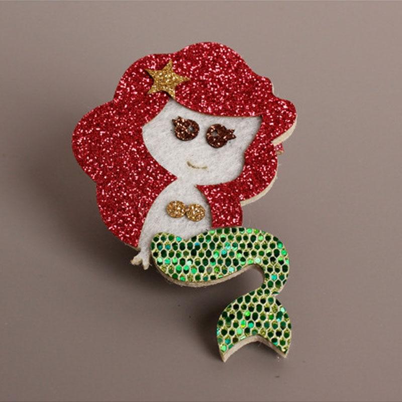 Glitter Havfrue hårklip Guld rød Kongelig lilla tegneserie Hotsale - Beklædningstilbehør - Foto 2
