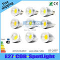 X10pcs Dimmable led lamp E27 GU10 E14 GU5.3 MR16 5W 7W 9W COB led light bulb AC110-240V spotlight 3 years warranty Free Shipping