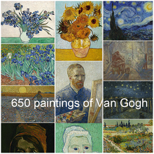 Van Gogh oil painting 650 HD paintings giclee print high quality art prints online personalized wall customized customise