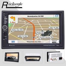 7020 Г 7 дюймов 2 Двойной Din Автомобильный MP5 Видео Плеер С Сенсорным экран 1080 P GPS Навигации Bluetooth Радио Пульт Дистанционного Управления Автомобиль Стиль USB