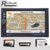 7 Inch Double Din Touch Screen 1080P Car DVD MP5 Video Player 7020G GPS Navigation Bluetooth