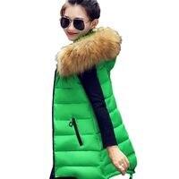 New Arrival 2019 Women Winter Vest Women's Long Vest Jacket Sleeveless Hooded Down Cotton Slim Waistcoat Warm Vest Female
