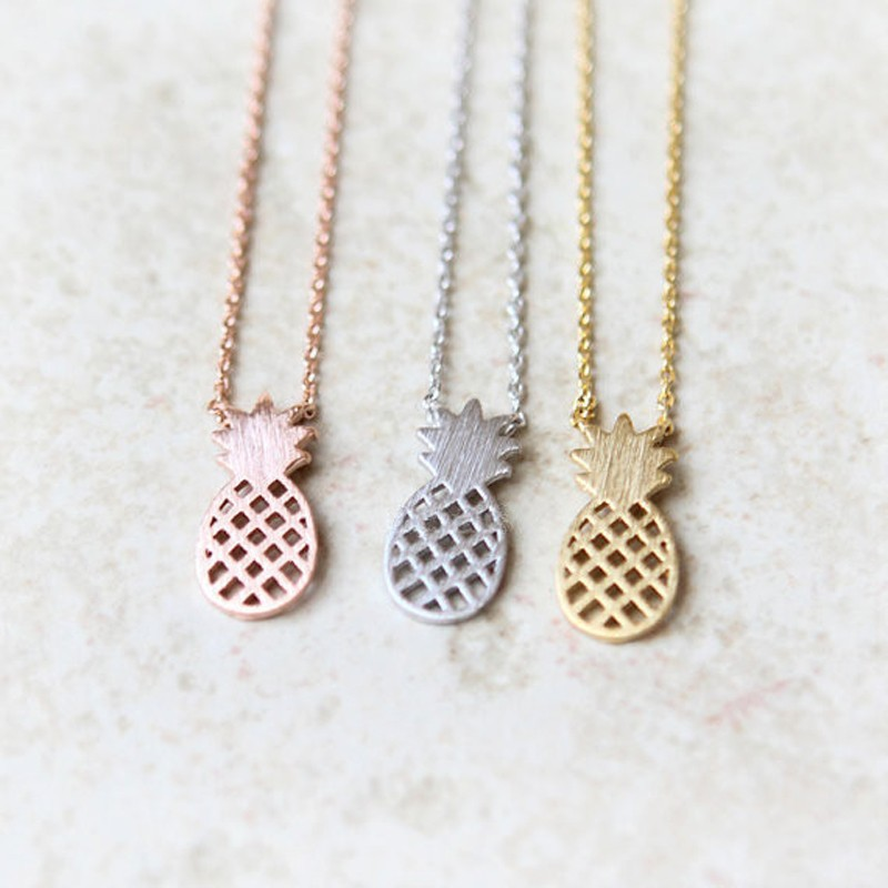 bfaccf6007e8 Fashion silver plated necklace pineapple clavicle necklaces for women  wholesale and mixed color