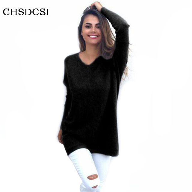 Winter Knitting Women Sexy Long Sleeve Sweater Vestidos Straight Loose Sweater Bodycon Tunic Elasticity Cloth  For Female S262