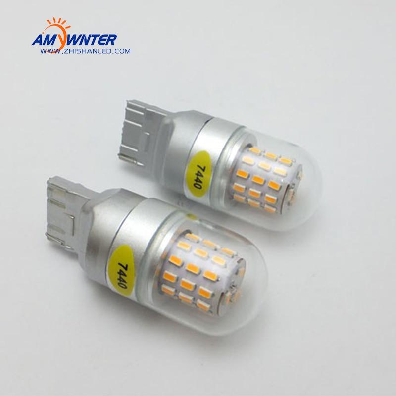 AMYWNTER 7440 7444 Առաջնորդված մեքենայի լամպ - Ավտոմեքենայի լույսեր - Լուսանկար 3