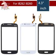 10pcs/lot For Samsung Galaxy Core Duos i8262 i8262D i8260 i8268 Touch Screen Digitizer Front Glass Panel Sensor Lens Replacement стоимость