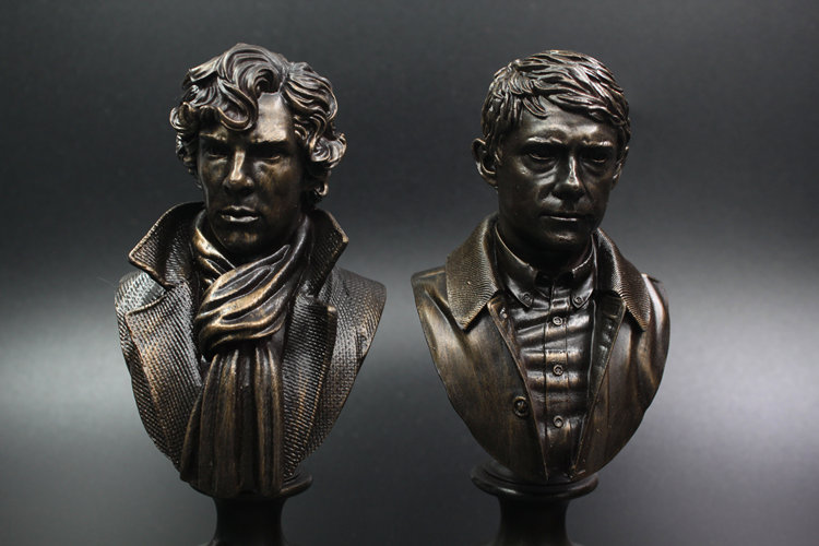 a29ba871d8d Set Of Two Sherlock Holmes   Watson. Limited Edition Mini Resin Bust  figures ...