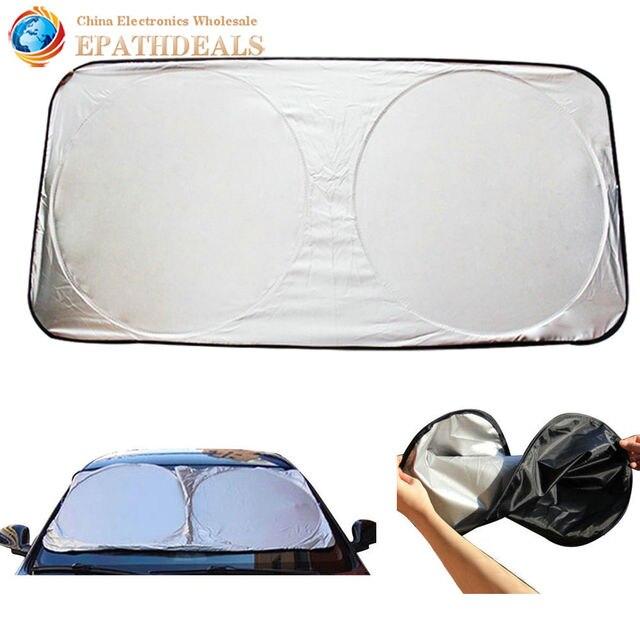 Auto Car Window Foils Film Foldable Visor Sun Shade Windshield Cover Block  Front Rear Window Sunshade UV Protect d5baebf0ce3