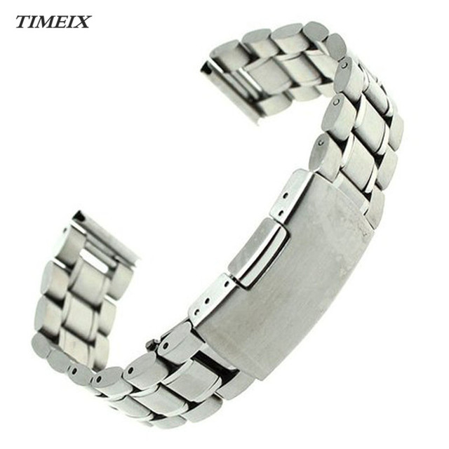 22mm Stainless Steel Bracelet Watch Band Strap Straight End Solid Links High Qua