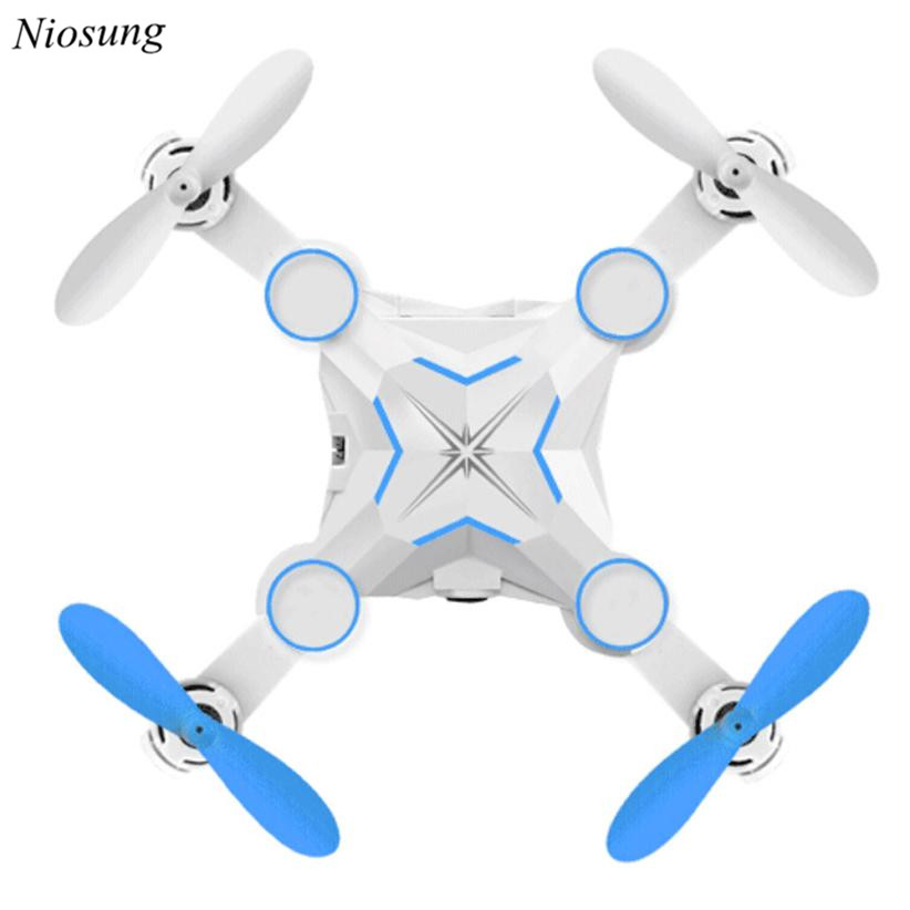 Niosung Modern M1 Mini Foldable HD FPV 0.3MP 2.4G 4CH 6Axis RC 3D Roll A key return Quadcopter Drone With Camera HD Video