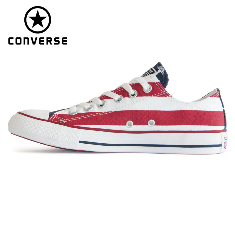 fresh styles sells fashion style US $67.6 20% OFF|NEW Original CONVERSE The national flag design shoes All  Star man women unisex low sneakers Skateboarding Shoes M3494-in ...