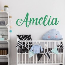 Personalized Wall Sticker, Name Decal, Nursery Decor, Boys Girls Vinyl Decal beauty salon wall decals LW96