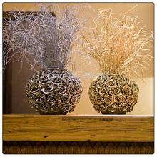 45cm Golden Silver Glitter Bling Flower Branches Eulaliopsis Binata Artificial Gilded Grass Christmas Simulation