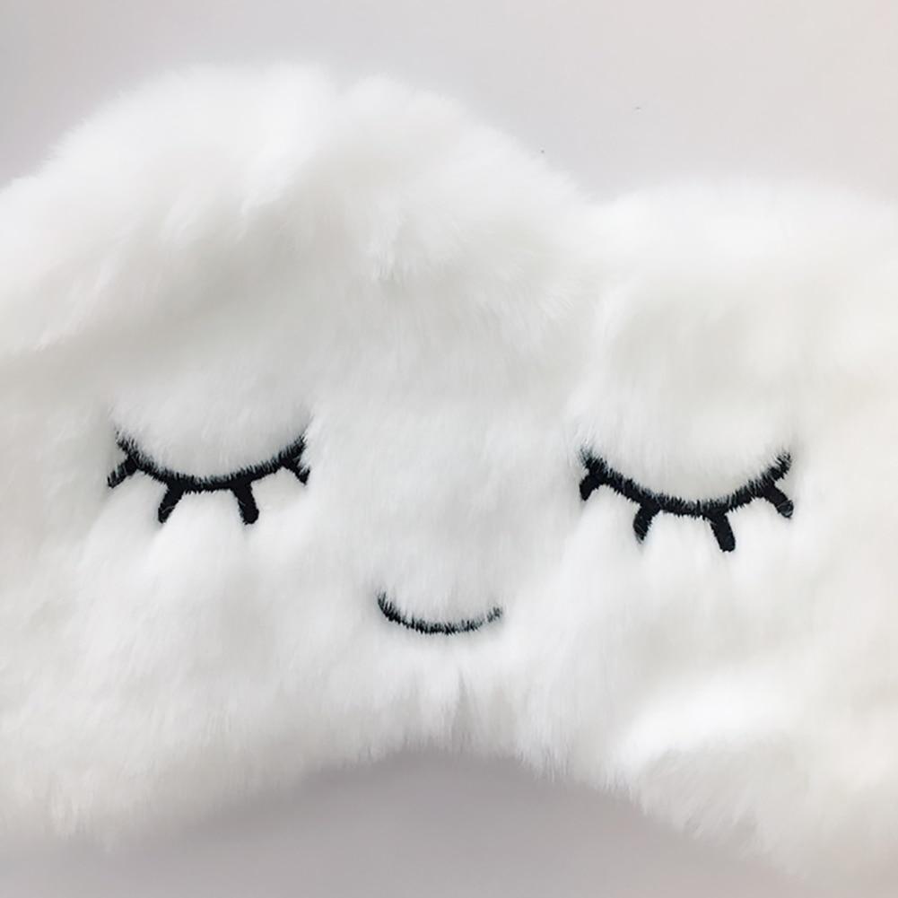 Sleeping Aid Blindfold Break Soft Plush Cute Eyelashes Home Eye Mask Travel Shade Relaxing Lightweight Cartoon Cloud Eyepatch