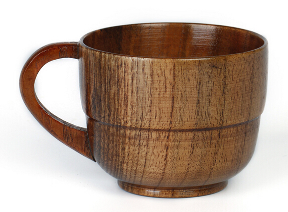 8.5*7cm Creative Beer Mug Tea Cup Natural Wood Coffee Cup Furniture Accessories кружка с цветной ручкой и ободком printio французский бульдог