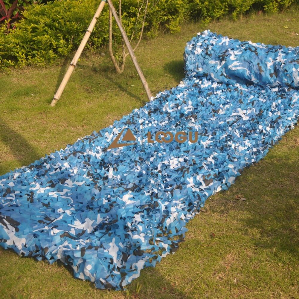LOOGU E 1.5M * 6M Blue Camo nettósítás dzsungel nettó menedék - Kemping és túrázás - Fénykép 3