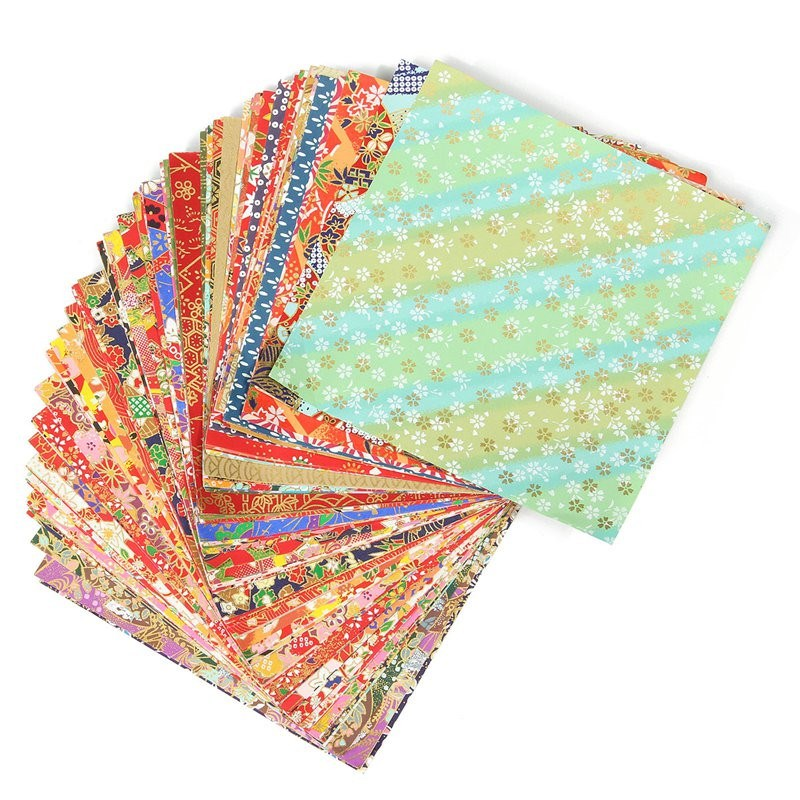 Online Shop Handmade 40 Sheets 40x40cm Mixed Pattern Japanese Mesmerizing Patterned Origami Paper