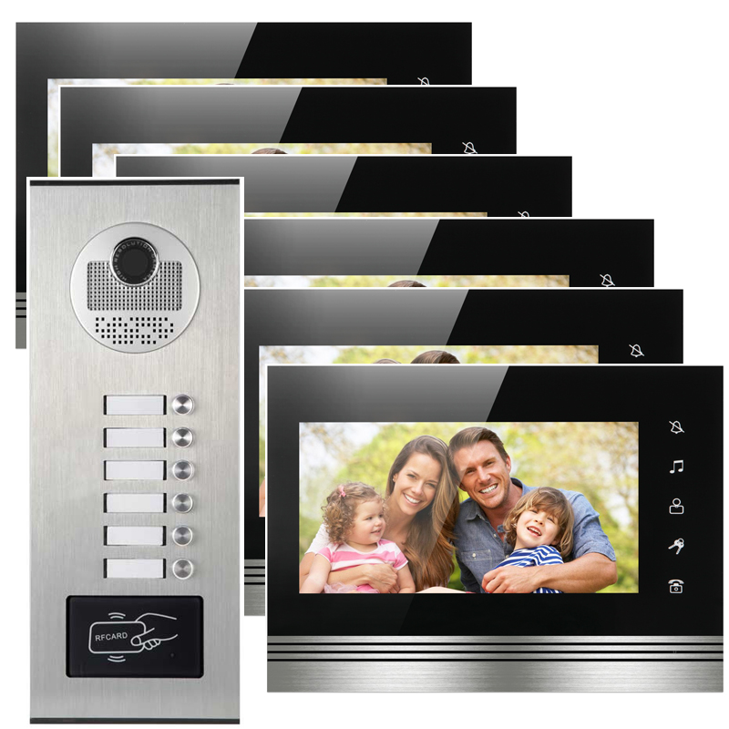 6 apartments video interphone for home door access security separate call to unit apartment a place to call home