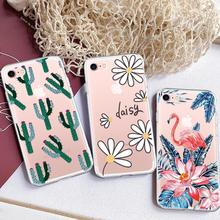 GerTong Painting Soft TPU Case For iPhone X 8 7 6 6S Plus 5 5S SE XS Max XR Cases Animal Flower Heart Slim Silicon Housing Shell