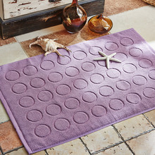 new solid circle jacquard floor carpet mat home decor cotton bathroom mat carpet 5075cm bathroom rugs doormat tapis de bain