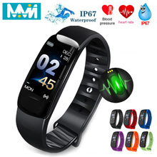 MMN C1Plus Smart Bracelet Color Screen Blood Pressure Fitness Tracker Heart Rate Monitor Band Sport for Android IOS HOT