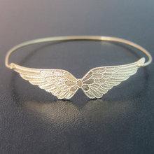 Double Angel Wings Bracelet Bangle Gift for Air Force Girlfriend  women brazalete Jewelry Free Shipping YPQ0068