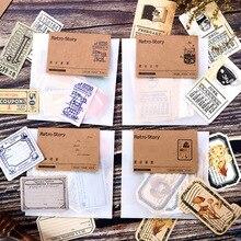 4style винтажная серия билетов креативная ткань коричневая бумага клейкие заметки школьные офисные канцелярские принадлежности