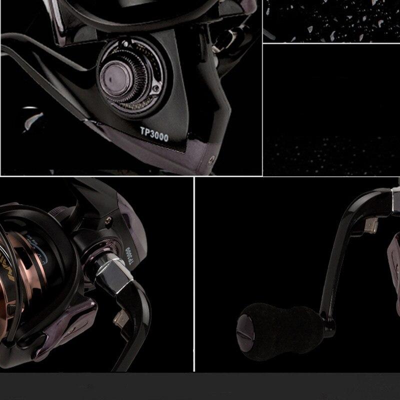 Купить с кэшбэком KKWEZVA High Quality Metal Reel Printing 14 + 1BB Spinning Fishing Reels Gear Ratio 5.5: 1 DM2000-7000 carretilhas de pesca