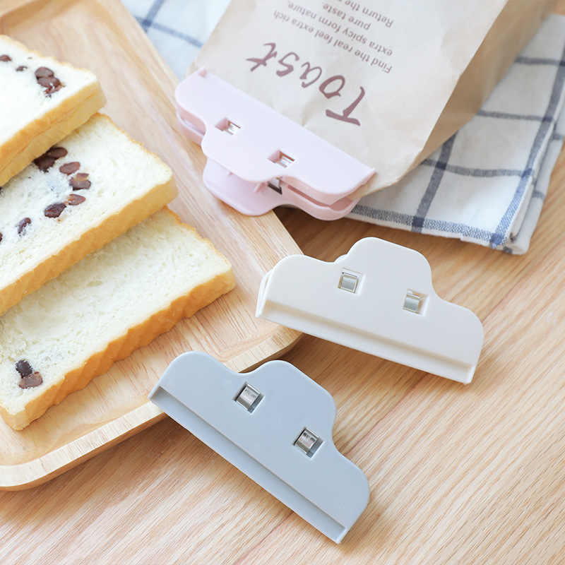 6PCS Plastic Bag Clips For Snack Seal Storage Food Bag Sealer Tool Milk Power Food Close Strong Clip Kitchen Accessories