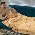 Флисовое одеяло Tortilla  мягкое Флисовое одеяло с принтом Tortilla de Harina Burrito  одеяло круглой и квадратной формы  Забавный кляп в подарок